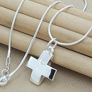 NEW 925 Sterling Silver Cross Pendant Necklace